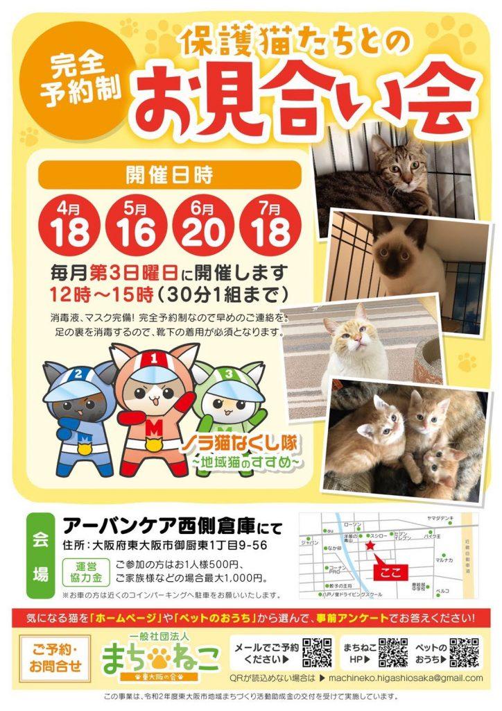 【毎月第3日曜日】保護猫たちとのお見合い会