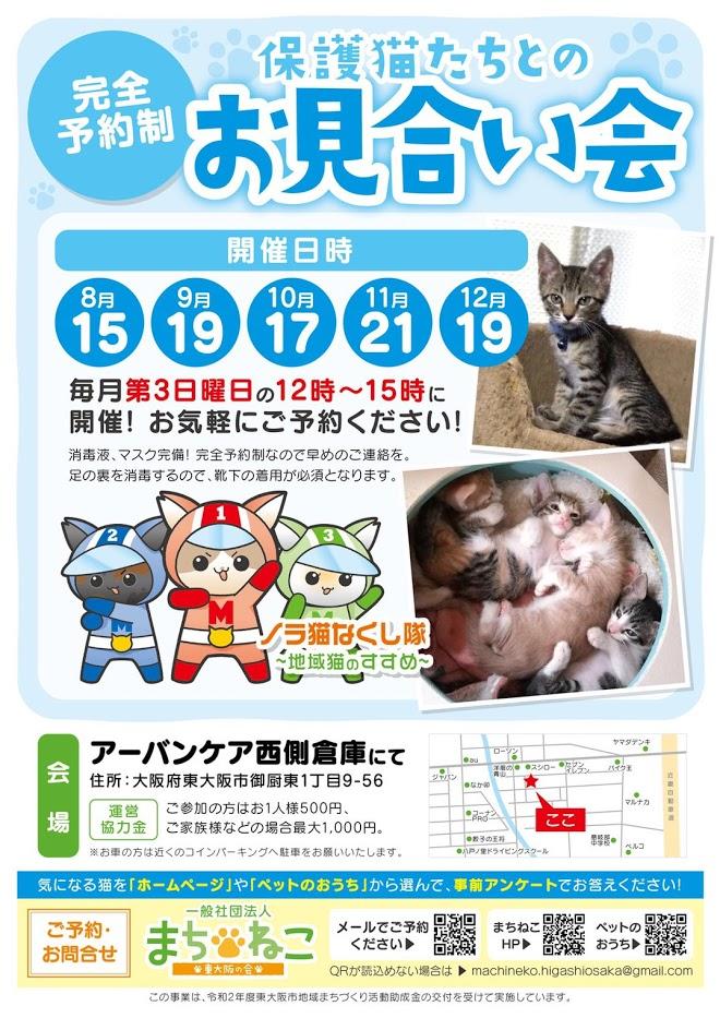 【8/15(日)】保護猫たちとのお見合い会